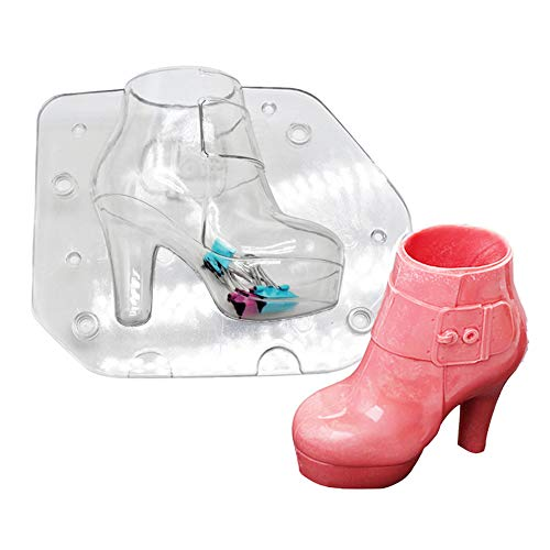 KALAIEN Ladies Boots Shoes Chocolate Candy Mould 3D Fondant Jelly Cake Mold for DIY Home Baking Tool Small (Boot Cake Mold)