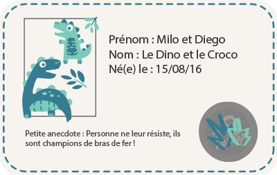 Tichoups Chaussons BÉbÉ Cuir Souple Milo Et Diego Le Dino Et Le Croco-30/31