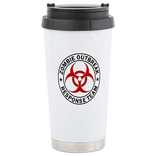 CafePress Zombie Outbreak Response Team Stainless Steel Trav Stainless Steel Travel Mug, Insulated 16 oz. Coffee Tumbler