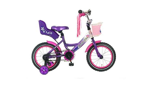 Little Miss bicicleta infantil niña, 14 pulgadas colores, color ...