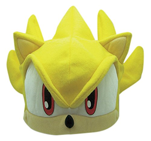 Great Eastern Sonic the Hedgehog Series: Super Sonic Fleece Cap - Sonic Hedgehog Halloween Costumes