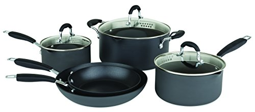 Allrecipes Hard Anodized Cookware Set, Nonstick, 8 Piece