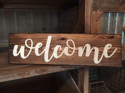 Amazon Com 123roywarner Rustic Wood Sign Welcome Sign Door Country
