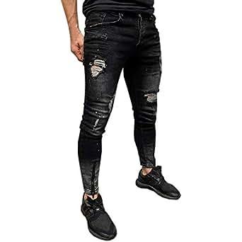 ♚ Pantalones Vaqueros Hombre Slim fit, Hombre Skinny Jeans ...