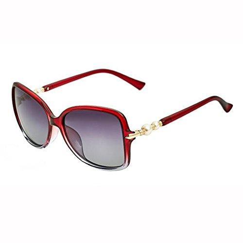A2 Gafas Polarizada Manejar Luz Aire Grande Beat xin Street De Perla WX Moda Color Sol Al Caja A1 Libre Viaje Gafas BSHq1Cw
