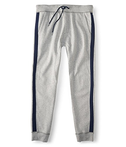 Aeropostale Men's Prince & Fox Side Stripe Jogger Sweatpants 3Xl Light Heather G