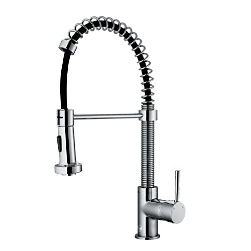 VIGO Edison Single Handle Pull-Down Spray Kitchen Faucet, Chrome