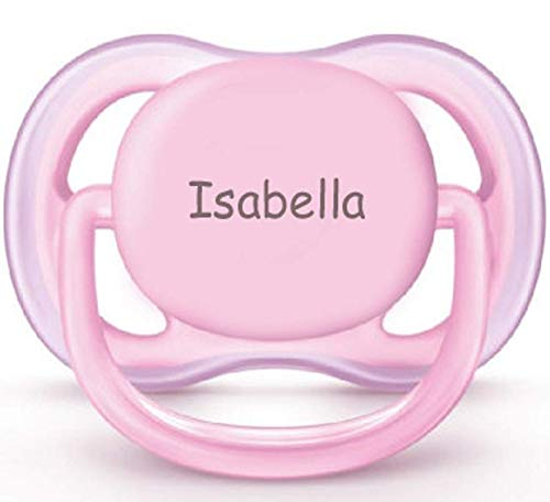 Philips AVENT Personalized Pacifier by Pacidoodle Customize Now Engraved with Your Baby's Name OR Monogram (Pink 0-6m)