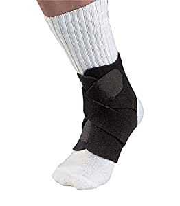 Mueller Adjustable Ankle Support, Black, One Size