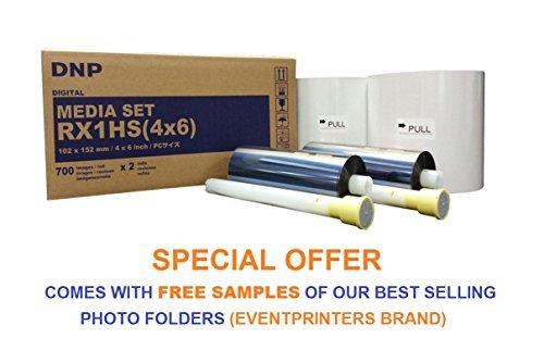 DNP 4x6'' Print Media for DS-RX1HS Dye Sub Printer; 700 Prints Per Roll; 2 Rolls Per Case (1400 Total Prints). by DNP
