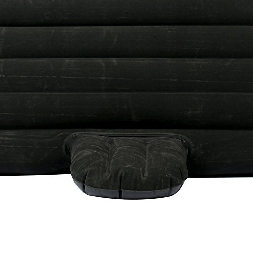 YaeTact Car Travel Inflatable Mattress Inflatable Bed Camping Universal with Two Air Pillows (Black)