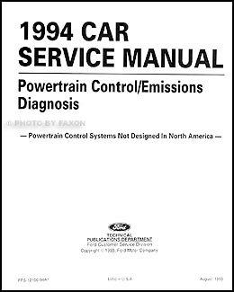 1994 Probe Aspire Escort Capri Tracer Engine Emission Diagnosis Manual
