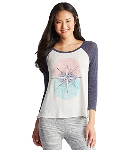 Aeropostale Womens Compass Raglan Pajama Sleep T-shirt 041 S
