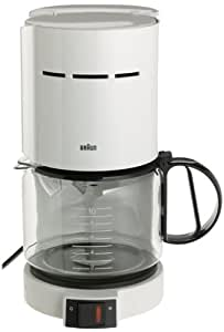 Braun Coffee Maker Single Cup : Amazon.com: Braun KF400-WH Aromaster 10-Cup Coffeemaker, White: Drip Coffeemakers: Kitchen & Dining