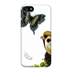 Top Quality Protection Basket Bird Butterflies Case Cover For Iphone 5/5s