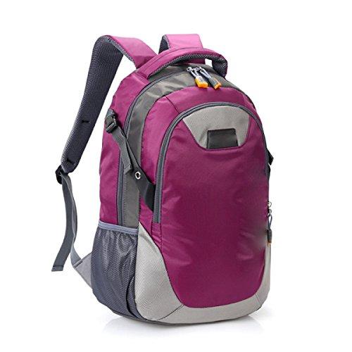 Gran Mochila Bandolera Recorrido De La Capacidad Recorrido Al Aire Libre Bandolera Estudiante Bolsa Casual,Pink DarkPurple