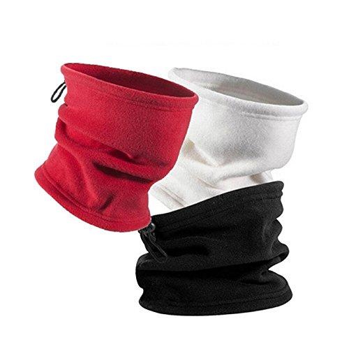 Hiking Scarf Camping Face Mask Cycle Polar Fleece Outdoor Balaclava Snood Neck Gaiter Warmer Neck Tube Face Mask Headwear (black)