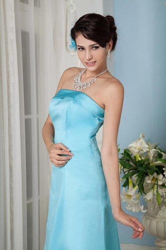 Einfache Bolero Blau Linie mit Satin GEORGE A bodenlangen Abendkleid BRIDE H58nzqnvT