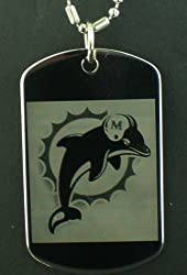 Miami Dolphins Dog Tag Pendant Necklace