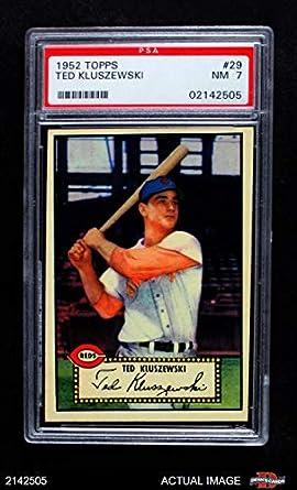 Amazoncom 1952 Topps 29 Ted Kluszewski Cincinnati Reds Baseball
