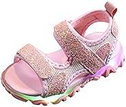 Voberry Baby Sandals, Baby Toddler Girls Summer Light Up Walking Sandals Led Luminous Sport Sandals Shoes