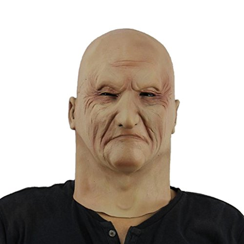 AMA(TM) Halloween Party Latex Wacky Mask Cosplay Mask Terror Mask Head Mask (D) (Realistic Masks For Sale)
