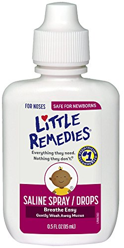 Large Product Image of Little Remedies Noses Saline Spray/Drops, 0.5 Ounce- Gently Wash Away Mucus for Ages Newborn and Up
