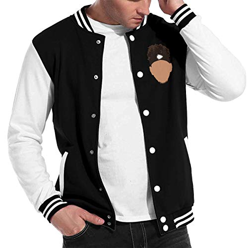 - Basketballsadw Men Kansas-City-Mahomes-Face Baseball Uniform Jacket Black