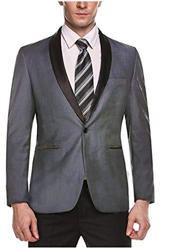 Blazer De Mariage Manteau Gris Costume Hommes xl Gailmontan Dîner Partie Groom Veste Bouton Simple YH7fx