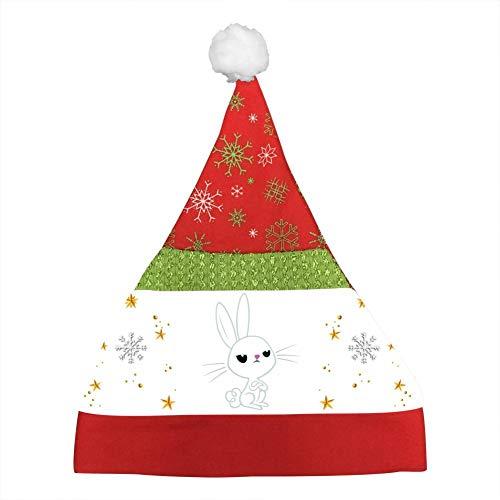 Custom Angel Bunny in Angry Clipart Christmas Hat Xmas Mini Santa Caps Party Cap Kids ()