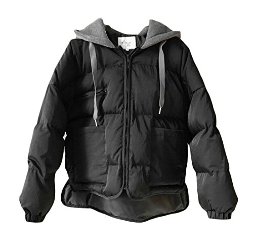 Entrance Parka amp;E Plus Hooded Outwear Quilted Women's H Puffer Zip Happiness Coat Black Size APFqdpd