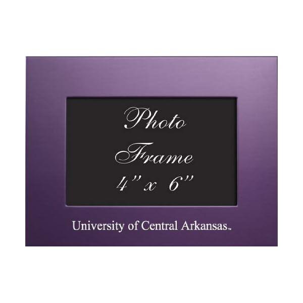 LXG, Inc. University of Central Arkansas – 4×6 Brushed Metal Picture Frame – Purple
