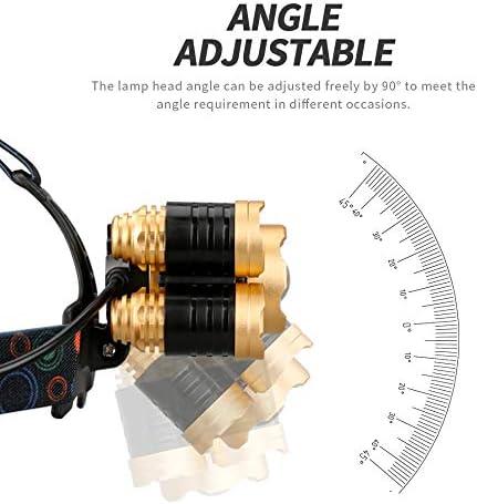 Faro USB Recargable Imp KJLAND 12000 Lumen Ultra Brillante 5 LED Luz de Cabeza