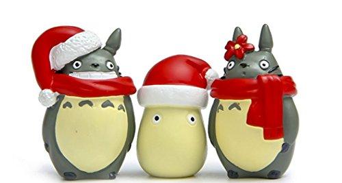 [3pcs DIY My Neighbor Totoro White Totoro Action Figures Toy Studio Ghibli Miyazaki Hayao Mini Figures Toys Collection Model] (Totoro Diy Costume)