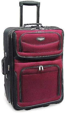 Travelers Choice Amsterdam 25 Expandable Rolling Upright in Burgundy