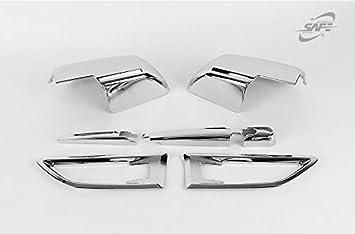 Amazon.es: SAFE - Espejo lateral cromado para limpiaparabrisas trasero, 4 piezas K-525