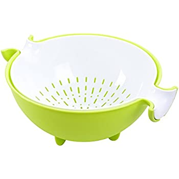 CHICHIC 2-in-1 Large Colander & Bowl Sets, Mixing Bowl and Strainer