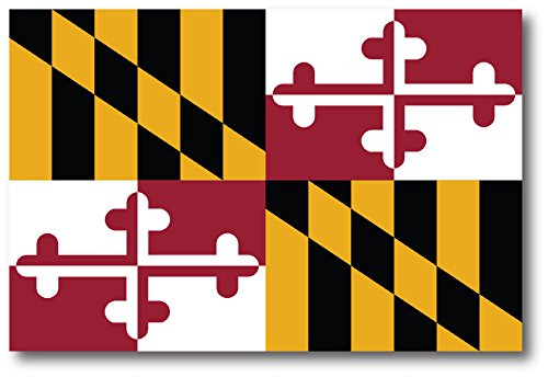 Maryland Car Magnet US State FLag Refrigerator Locker SUV Heavy Duty Waterproof