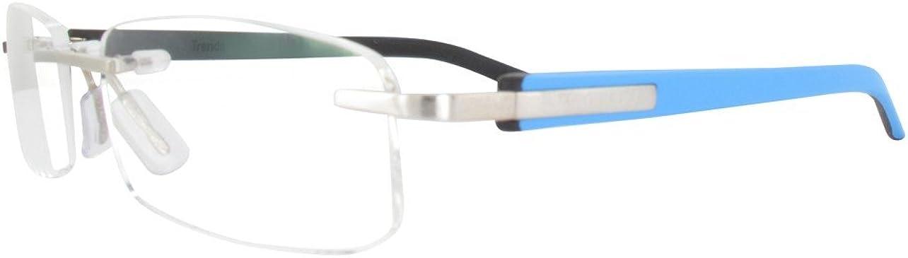 TAG HEUER TH8108 009 Azul & Negro Rimless Frames Gafas Lunettes sans monture Randlose Brille Anteojos sin montura Occhiali senza montatura Talla 54