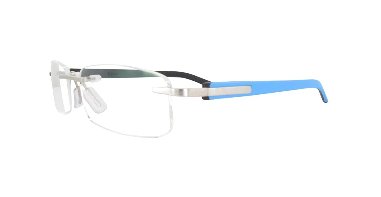 TAG HEUER TH8108 009 Blue /& Black Rimless Frames Eyeglasses Lunettes sans monture Randlose Brille Anteojos sin montura Occhiali senza montatura Size 54