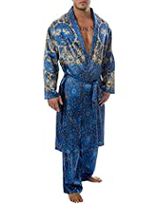 Silk Dreams Luxurious Men's Mulberry Silk Robe Solaris Universe of Stars Collection
