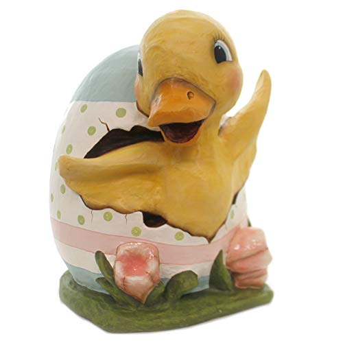 Easter Ducky Egg Paper Maché Spring Td8499 ()