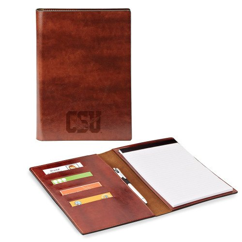Coppin Fabrizio Junior Brown Padfolio 'Official Logo Engraved' by CollegeFanGear