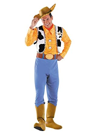 Amazon.com  Disguise Toy Story Men s Woody Deluxe Adult  Clothing 1f3aece397f