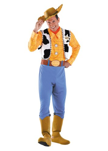 Woody Halloween Costume (Disguise Men's Woody Deluxe Adult Costume,Multi,XL (42-46))