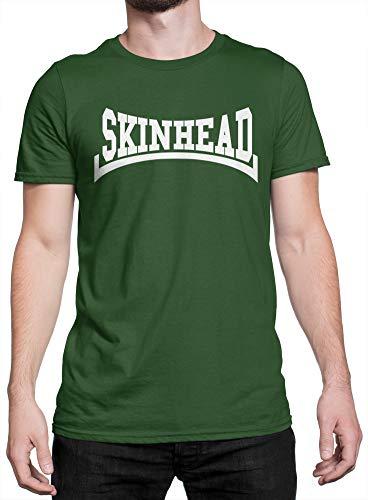 LaMAGLIERIA Camiseta Hombre Skinhead White Print - Camiseta 100 ...