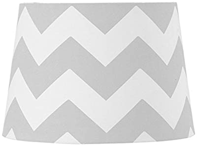 Lolli Living Lampshade, Grey - Off white Zig Zag