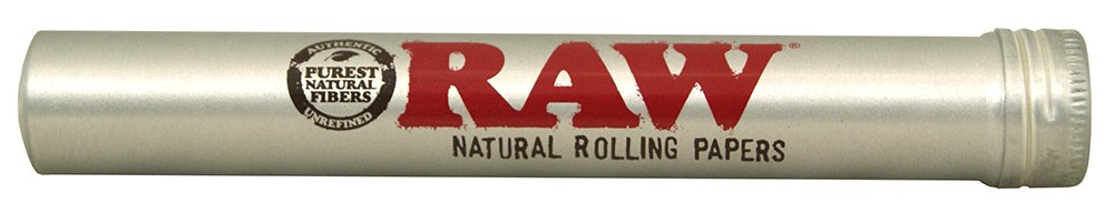 RAW Thentic Cigar Style Aluminum Tube, Silver, 1 Count