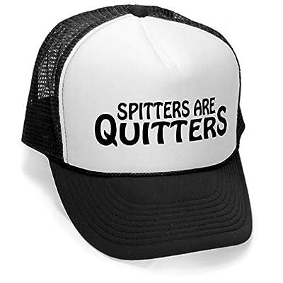 Megashirtz - Spitters Are Quitters - Vintage Style Trucker Hat Retro Mesh Cap