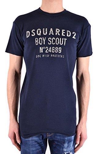 DSQUARED2 Men's S74gd0392s22620478 Blue Cotton T-Shirt (Dsquared2 Mens Clothing)